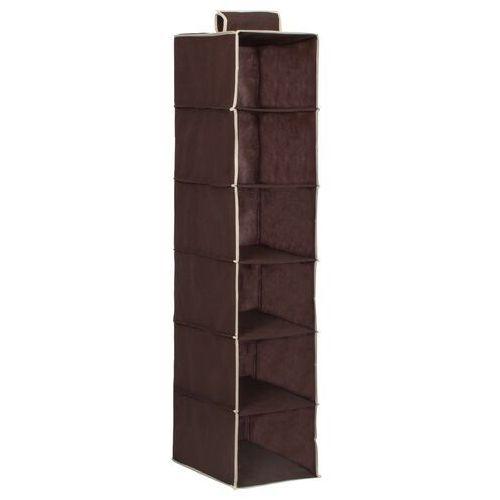 Springos Organizer do szafy wiszący z 6 półkami brązowy (5907719405629)