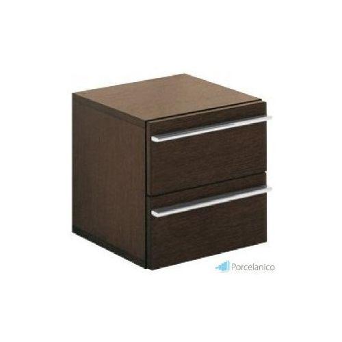 V&b pure basic, szafka z szufladami, 350 x 350 x 375 mm, fornir naturalny dab, bejcowany na ciemno 8 marki Villeroy&boch