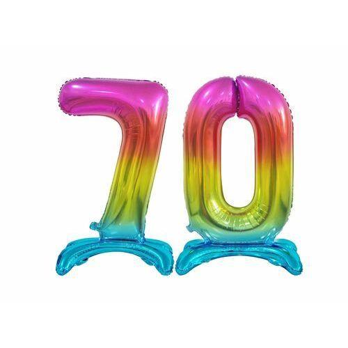 Zestaw balonów foliowych 70 tęczowa - 74 cm marki Godan