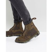 Dr Martens Made In England Pascal Camo 8 Eye Boots - Green
