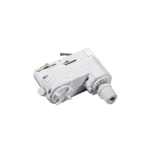 V-tac V-TAC Adaptor Szynoprzewodu 4 Track Light Biały SKU 3659 - Autoryzowany partner V-tac, Automatyczne rabaty. (3800157619141)