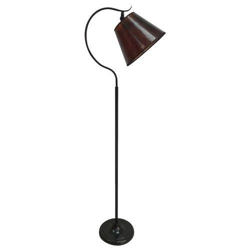 Candellux Nebrasca 51-41913 lampa podłogowa stojąca 1x60W E27 czarny / brązowy (5906714841913)