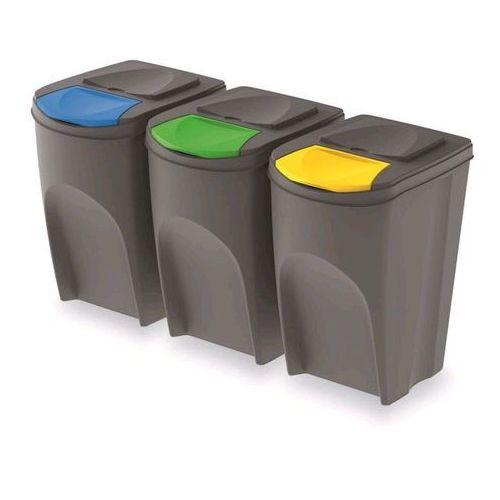 Prosperplast Kosz do segregacji śmieci sortibox 3 x 35 l szary (5905197278445)