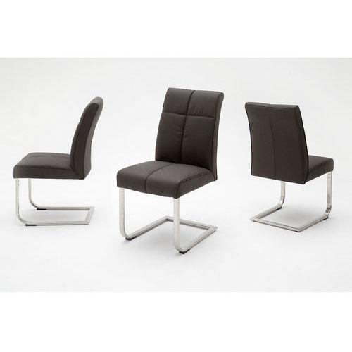 Krzesło LOU D na płozie, sześć wariantów kolorystycznych ekoskóry