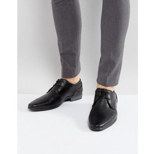 smart lace up shoes in black - black, River island