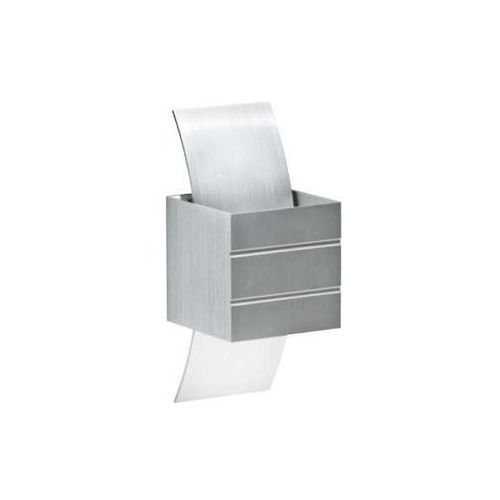Kinkiet lampa ścienna vidal gm1104 alu metalowa oprawa kostka cube aluminim marki Azzardo