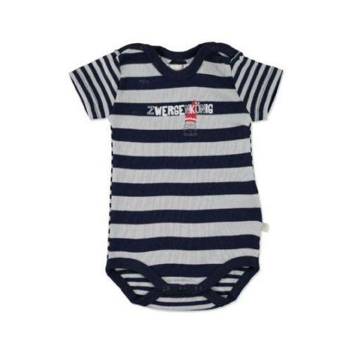 Kanz baby body dziecięce z krótkim rękawem black iris (4053607650747)