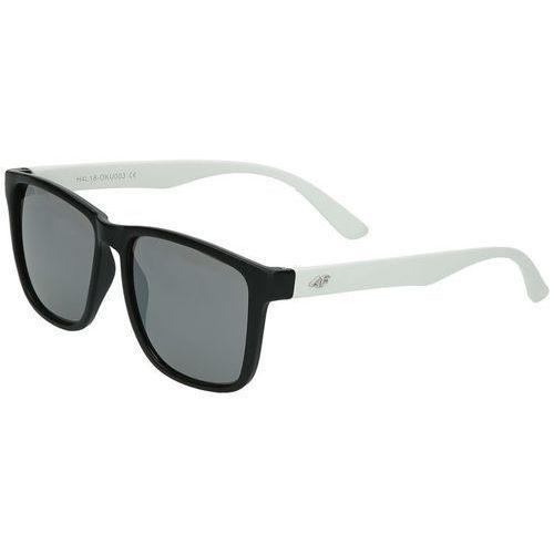 Okulary przeciwsłoneczne OKU003 4F - Czarny ||Biały, kolor czarny