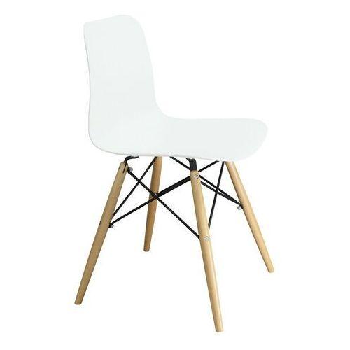 Krzesło krado dsw premium białe - polipropylen, podstawa bukowa marki Sofa.pl