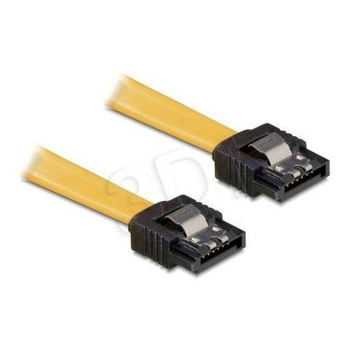 DeLOCK SATA Przewody żółty 0.3m z zatrzaskiem, prosty/prosty (82473) z kategorii Kable, taśmy i przejściówki