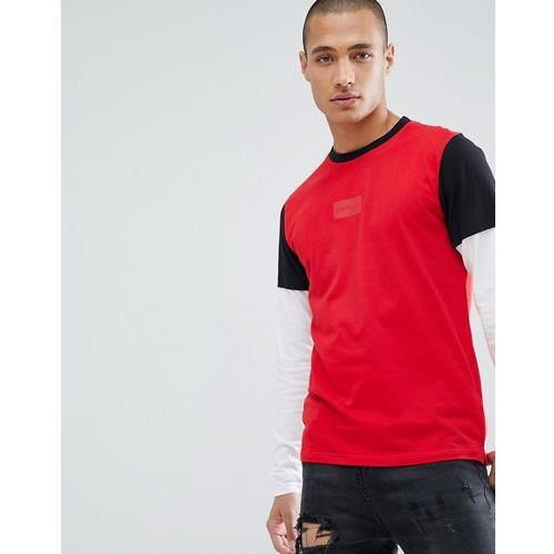 D-Struct Long Sleeve Double Layer T-Shirt - Red, w 4 rozmiarach