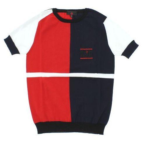 John richmond  sweter dziecięcy niebieski czerwony biały 6 lat