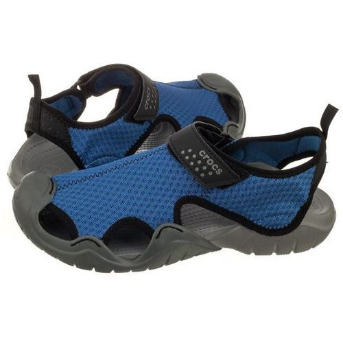 Crocs Sandały swiftwater sandal m blue jean 15041-4hc (cr110-c)