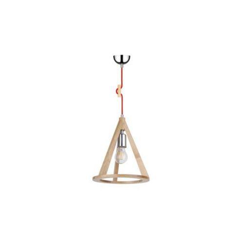 Lampa wisząca zwis oprawa Spot Light Konan 1x60W E27 brzoza/chrom/czerwony 1071660, 1071660