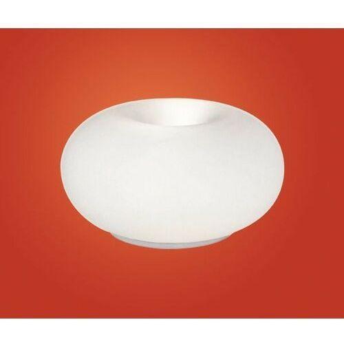 EGLO 86818 - Lampa stołowa OPTICA 2xE27/60W biały/opalone szkło (9002759868185)