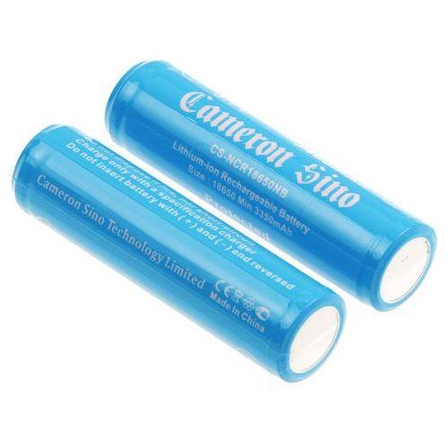 2x akumulator 18650 3400mah 12.58wh li-ion 3.7v z zabezpieczeniem pcm ogniwo panasonic ncr18650b () marki Cameron sino