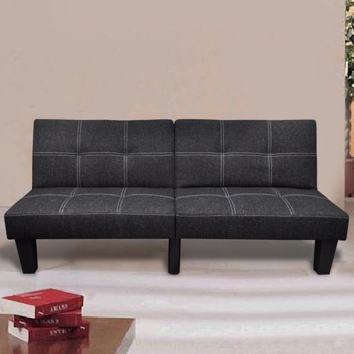 vidaXL Sofa rozkładana w kolorze czarnym