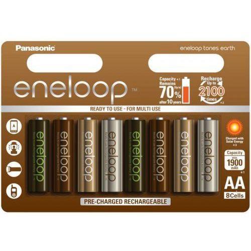 Akumulatory PANASONIC Eneloop Tones Earth R6 AA 1900mAh 8szt. (5410853060710)