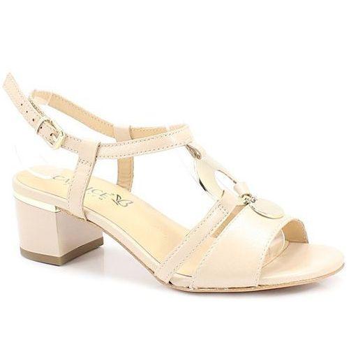 Caprice 9-28211-22 beżowe - niskie sandały