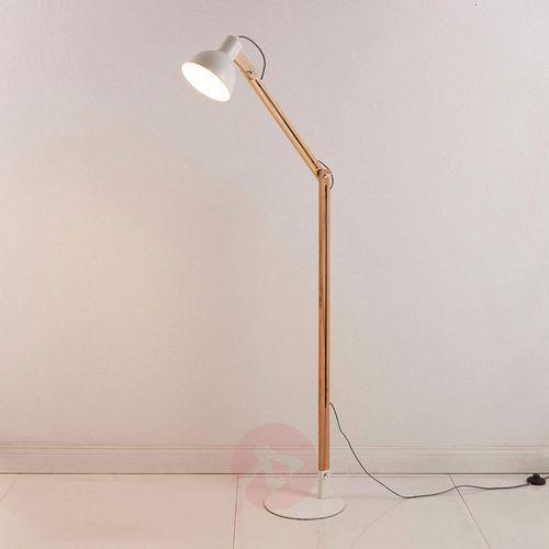 Lampenwelt.com Shivanja - lampa stojąca z drewna i metalu