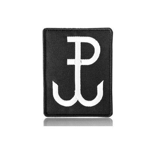 Naszywka velcro polska walcząca 7 x 9 cm, czarna marki Kolter