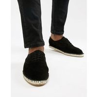 Kg by kurt geiger lace up espadrilles in black suede - blue, Kg kurt geiger