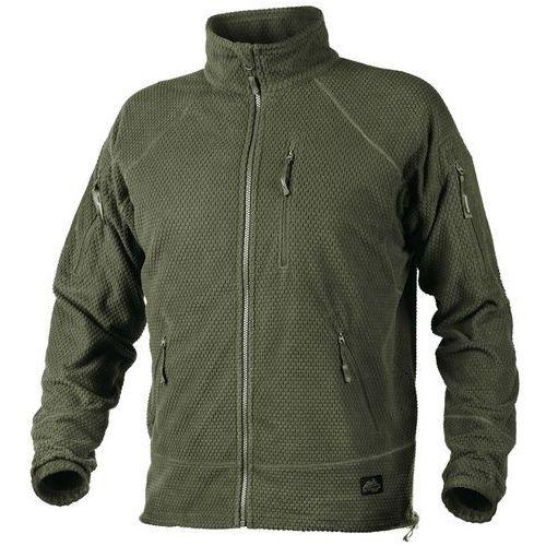 bluza Helikon Alpha TACTICAL Grid Fleece Jacket olive green (BL-ALT-FG-02) z kategorii Bluzy militarne