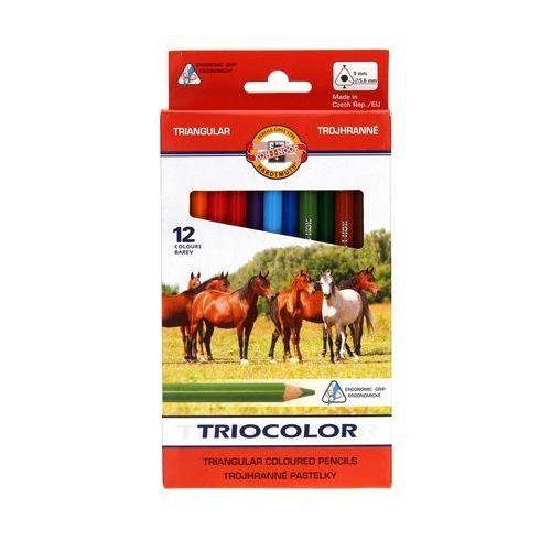 Kredki ołówkowe 12kol 9mm Tricolor KIN 3142, AR7383
