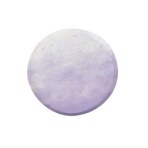 Talerzyki urodzinowe fioletowe ombre - 24 cm - 8 szt. marki Ginger ray