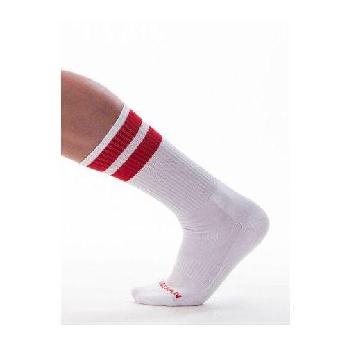Barcode gym socks skarpetki biało-czerwone marki Barcode (ge)
