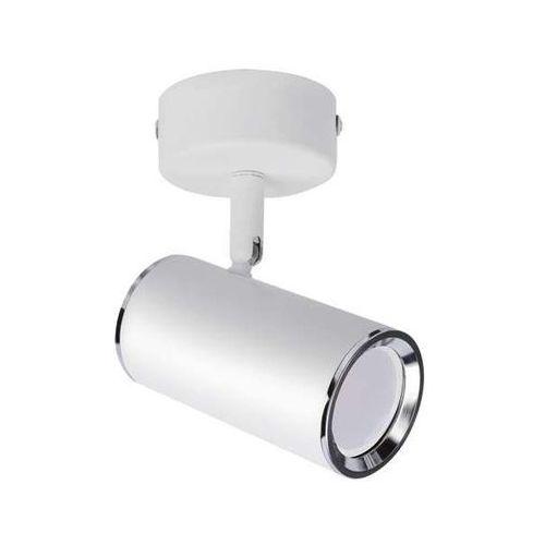 Lampa sufitowa megan 03655 metalowa oprawa natynkowa ścienny reflektorek kinkiet biały marki Ideus