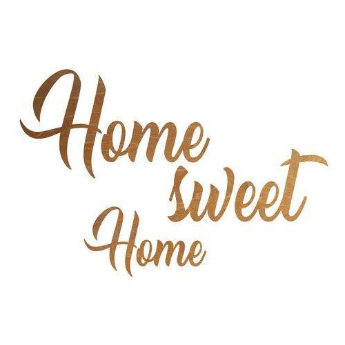 Dekoracja drewniana napis na ścianę home sweet home - 3 mm marki Congee.pl
