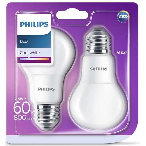 Philips Żarówka LED E27 7,5W (60W) 806lm 230V barwa naturalna 76878 (2szt) (8718696576878)