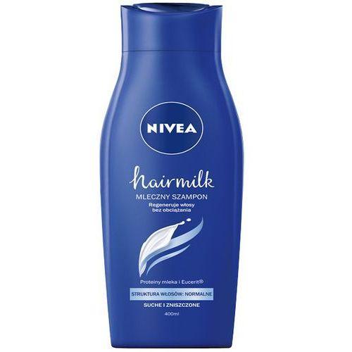 Nivea Szampon  hair milk do włosów normalnych suchych i zniszczonych 400ml