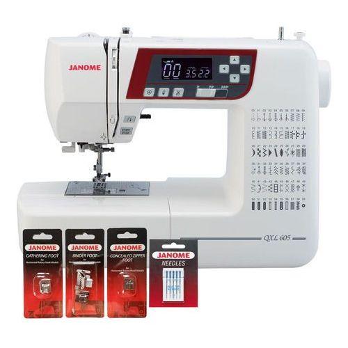 Maszyna do szycia qxl605 + stopki + igły + stolik + gwarancja 5 lat - najlepsza w tej cenie marki Janome