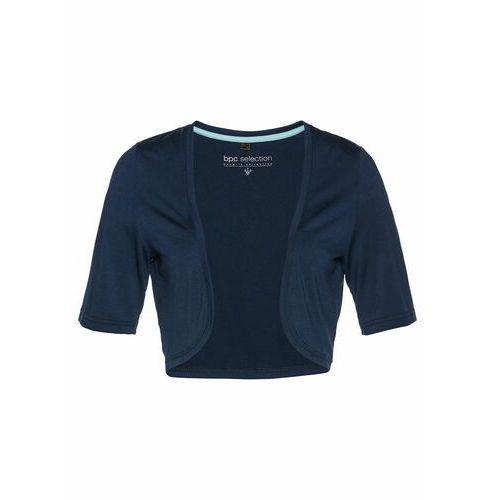 Bolerko shirtowe bonprix ciemnoniebieski, kolor niebieski