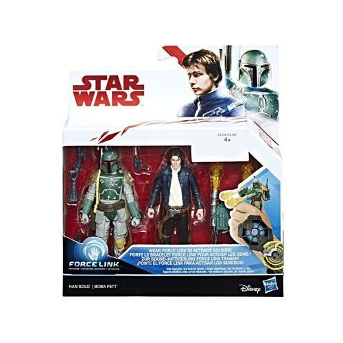 Hasbro Star wars 2-pak figurek han solo + boba fett (5010993364350)
