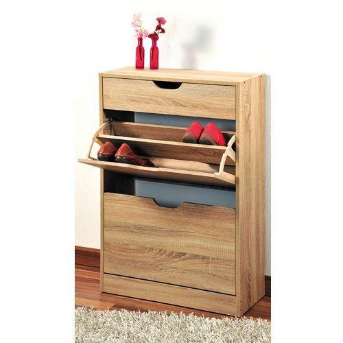 Kesper Wysoka szafka na buty z drewna w kolorze dąb sonoma, regał na buty, szafka na buty do przedpokoju, komoda na buty, drewniana szafka na buty,