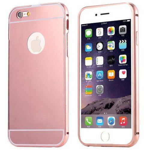 Mirror bumper metal case różowy | etui dla apple iphone 6 / 6s - różowy