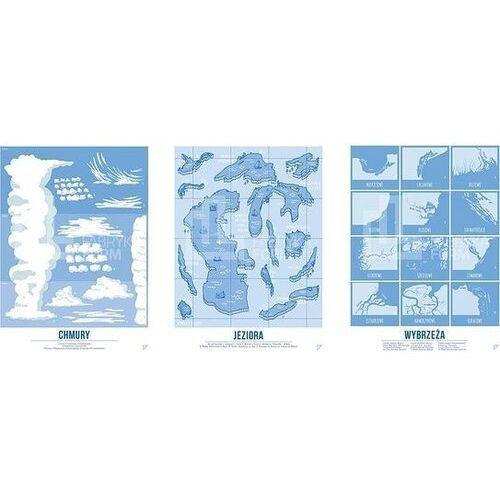 Follygraph Plakat jeziora, wybrzeża i chmury w zestawie 3 szt.