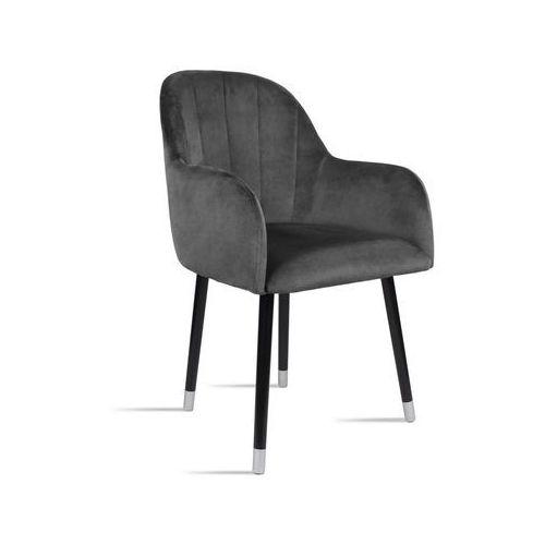 Krzesło BESSO ciemny szary/ noga czarny silver/ TR15, kolor szary