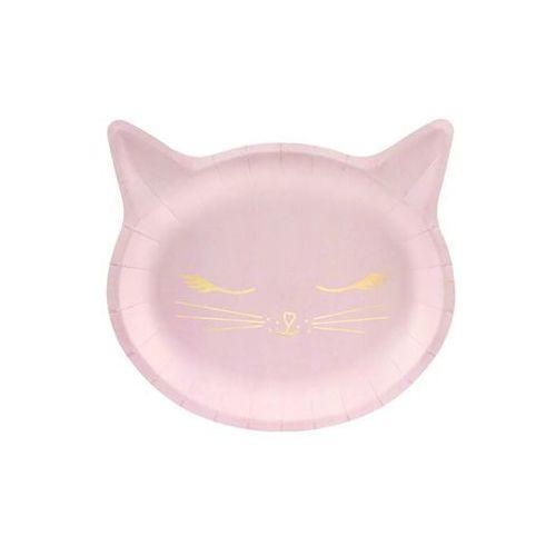 Party deco Talerzyki kotek jasnoróżowe - 22 x 20 cm - 6 szt. (5902230795594)