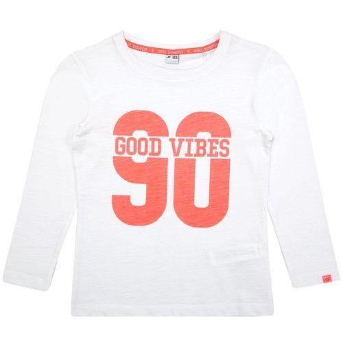 Longsleeve dla małych dziewczynek JTSDL103 - biały