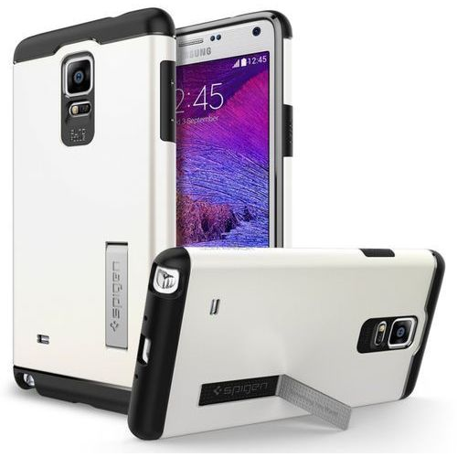 Etui SPIGEN do Galaxy Note 4 Case Slim Armor Shimmery Biały