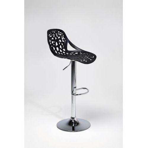 :: hoker ornament black - kare design:: bar stool ornament black ||srebrny marki Kare design