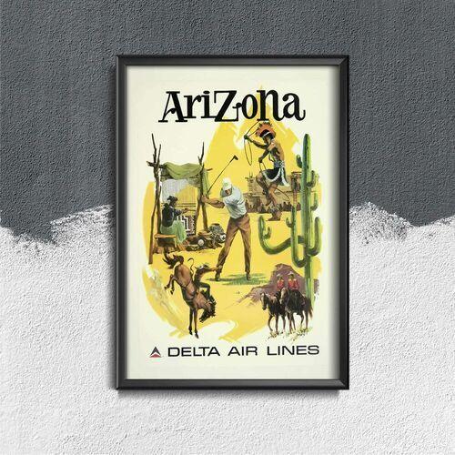 Plakat w stylu retro plakat w stylu retro linie lotnicze arizona delta marki Vintageposteria.pl
