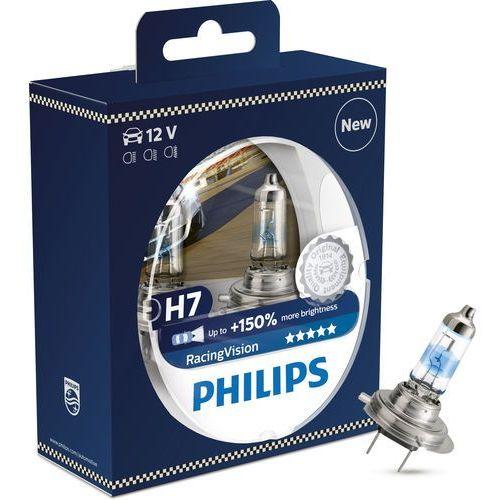 ZESTAW 2x Żarówka samochodowa Philips RACINGVISION 12972RVS2 H7 PX26d/55W/12V (8719018000248)