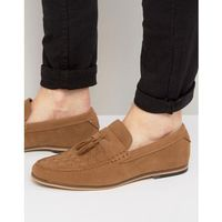 River Island Woven Loafers With Tassels In Tan - Tan