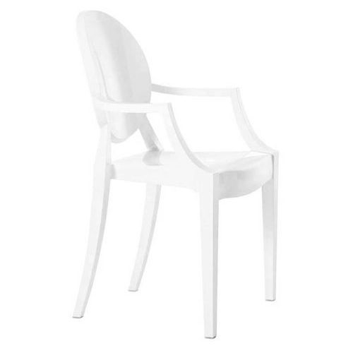 King home Krzesło louis białe 124.apc.bialy - - sprawdź kupon rabatowy w koszyku