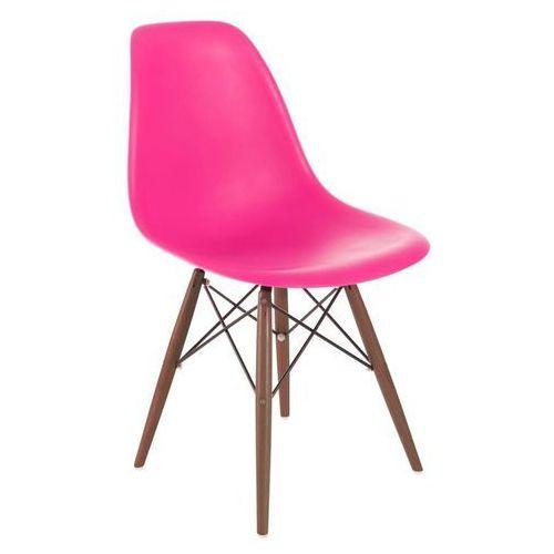 Krzesło p016w pp dark inspirowane dsw - różowy ciemny marki D2.design